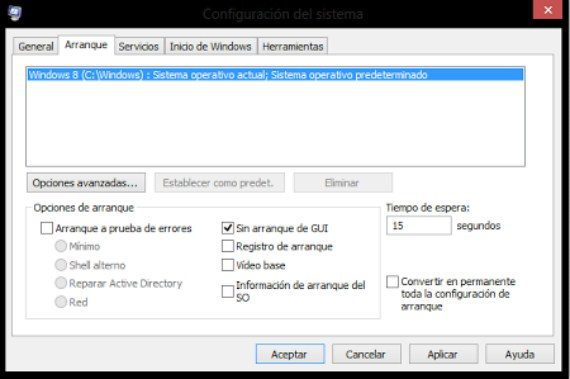 Arranque Windows 8